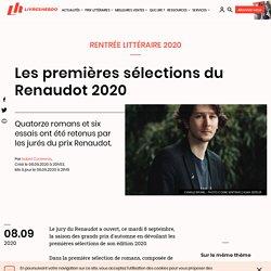 Les premières sélections du Renaudot 2020...