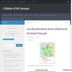 Les dix premières aires urbaines du territoire français