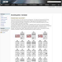 Premiers accords à la guitare
