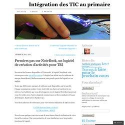 Premiers pas sur NoteBook, un logiciel de création d'activités pour TBI