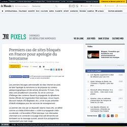 Premiers cas de sites bloqués en France pour apologie du terrorisme