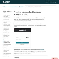 Premiers pas avec Dashlane pour Windows et Mac – Dashlane