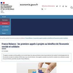 France Relance : les premiers appels à projets au bénéfice de l'économie sociale et solidaire