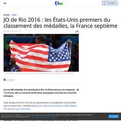 JO de Rio 2016 : les États-Unis premiers du classement des médailles, la France septième