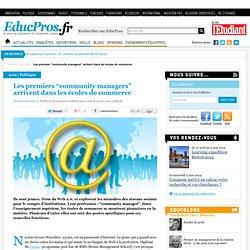 """Les premiers """"community managers"""" arrivent dans les écoles de co"""