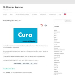 Premiers pas dans Cura - 3D Modular Systems