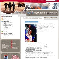 Les gestes de premiers secours - Les gestes qui sauvent - Conseils sécurité - Service Départemental d'Incendie et de Secours de Maine-et-Loire