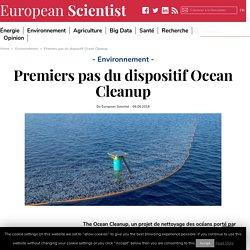 Premiers pas du dispositif Ocean Cleanup