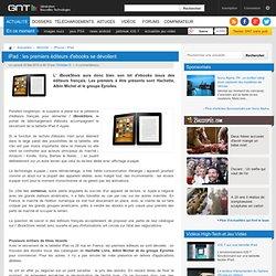 iPad : les premiers éditeurs d'ebooks se dévoilent