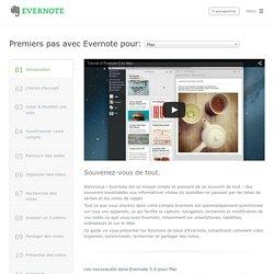 Premiers pas avec Evernote pour Mac