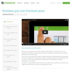Premiers pas avec Evernote pour Windows 8