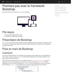 Premiers pas avec le framework Bootstrap
