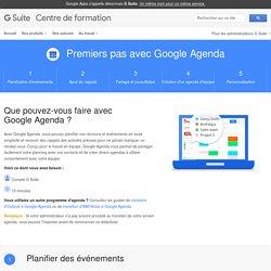 Premiers pas avec GoogleAgenda – Centre de formation GSuite