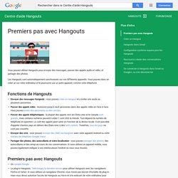 Premiers pas avec les Hangouts - Centre d'aide Hangouts