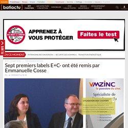 Sept premiers labels E+C- ont été remis par Emmanuelle Cosse - 15/03/17