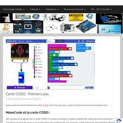 Carte CODO : Premiers pas. - Larajtekno MakeCode