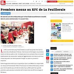Premiers menus au KFC de La Feuilleraie