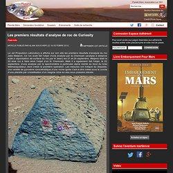 Les premiers résultats d'analyse de roc de Curiosity