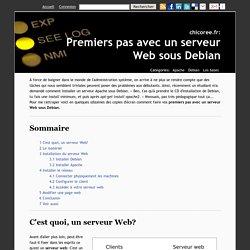 Premiers pas avec un serveur Web sous Debian