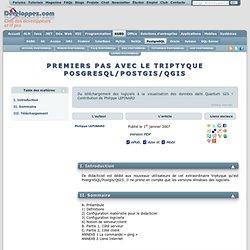 PREMIERS PAS AVEC LE TRIPTYQUE POSGRESQL/POSTGIS/QGIS