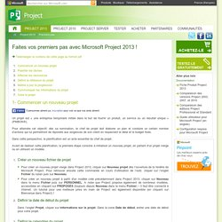 Faites vos premiers pas avec les tutoriaux Microsoft Project !