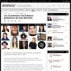 Les 12 premiers YouTubeurs québécois de Goji dévoilés
