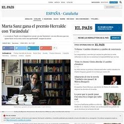 Marta Sanz gana el premio Herralde con 'Farándula'