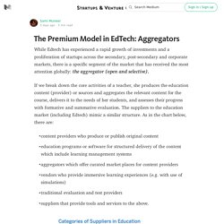 The Premium Model in EdTech: Aggregators — Startups & Venture Capital