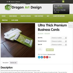 Ultra Thick Premium Business Cards