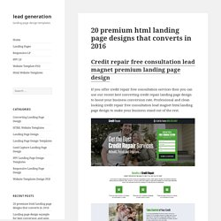 20 premium html landing page designs that converts in 2016