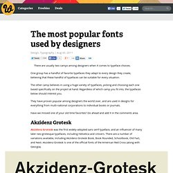 Free fonts and premium fonts used by designers