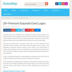 20+ Premium Exquisite Crest Logos