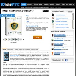 Intego Internet Security Barrier 2012 - TopTenREVIEWS