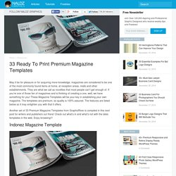 33 Ready to Print Premium Magazine Templates