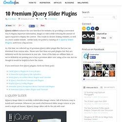 10 Premium jQuery Slider Plugins