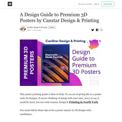 A Design Guide to Premium 3D Posters by North York Print Shop