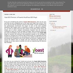 Yoast SEO Premium: Yoast SEO Premium: A Powerful WordPress SEO Plugin