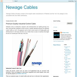 Newage Cables: Premium Quality Industrial Control Cable
