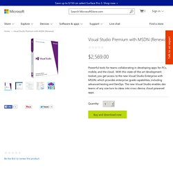 Visual Studio Premium with MSDN (Renewal)