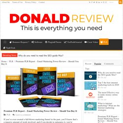 Premium PLR Report Email Marketing Power Review - Should You Buy It