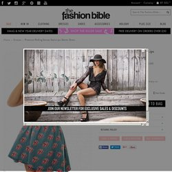 Premium Rolling Stones Style Lips Denim Dress - from The Fashion Bible UK