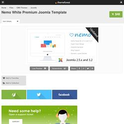 Nemo White Premium Joomla Template - CMS Themes