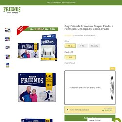 Buy Premium Adult Pants + Premium Underpads Combo
