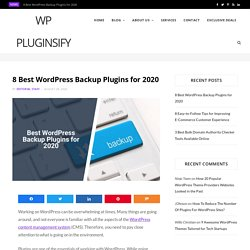 Best Free and Premium WordPress Backup Plugins for 2020