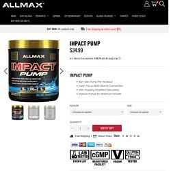 IMPACT PUMP Utra-Premium Pre-workout - Allmax Nutrition
