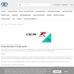 Premiumhersteller: C.Scope und XP - Geo-Electronic GmbH