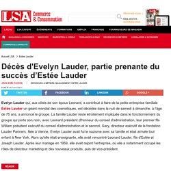 Décès d'Evelyn Lauder, partie prenante du... - DPH (Droguerie, parfumerie, hygiène)