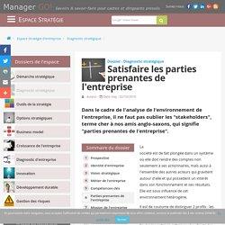 Parties prenantes de l'entreprise, acteurs internes et externes