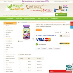 Buy Alive Prenatal Gummy Vitamins Nature's Way Multi-Vitamin Supplement