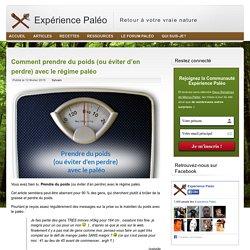 Prendre du poids avec le régime paléo